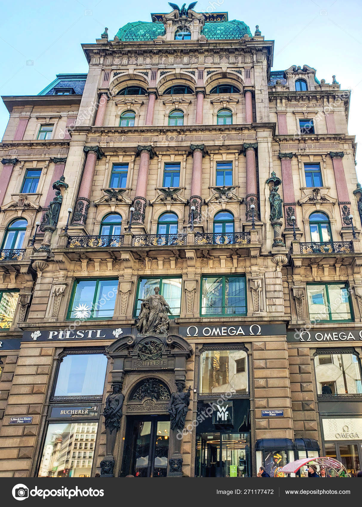 Vienna Austria April 2019 House Graben Street Which Characterizes