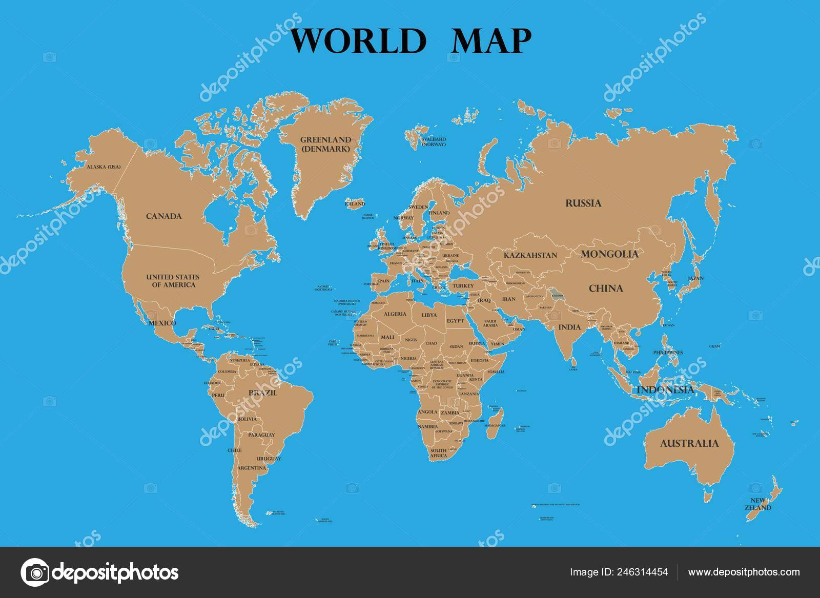 Picture of: World Map Countries Names High Detailed Vector World Map Complete Stock Vector C Lakmaljz Gmail Com 246314454