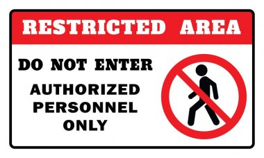 Restricted Area Sign -Do Not Enter Authorized Personnel Only Sign.Restricted Area Sign drawing by illustration