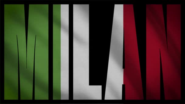 Italy Flag With Milan Mask
