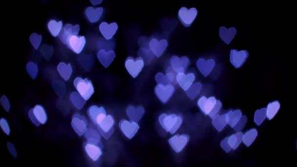 Bíbor szív Bokeh fények