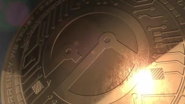 Crypto valuta everex érme 3d renderelés blockchain