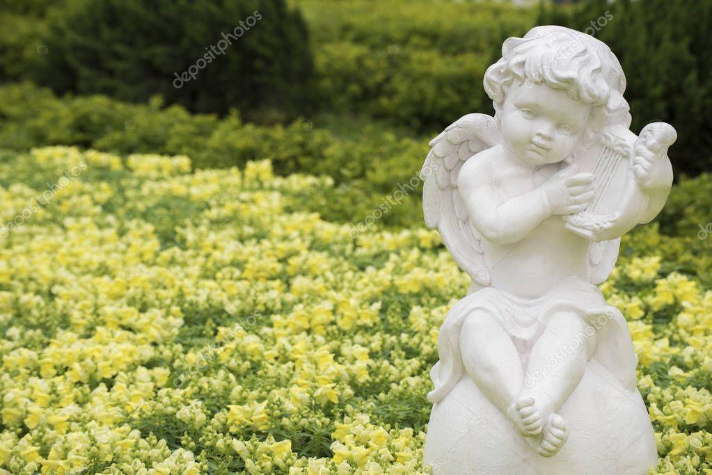 Sculpture of angel in Park