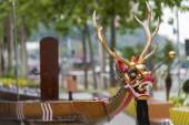 Fényképek Sárkány fejét a dragonboat, a kínai Sárkányhajó fesztivál