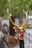 Sárkány fejét a dragonboat, a kínai Sárkányhajó fesztivál