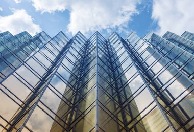 Facade of modern office building