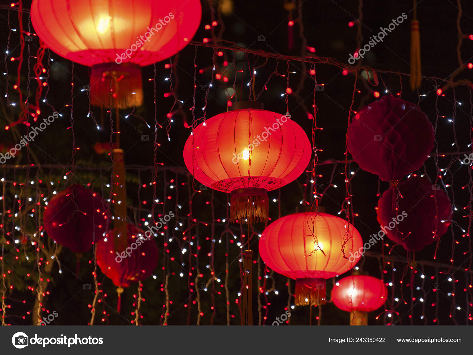 Red Chinese Lantern Background