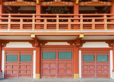 facade of Seiganto-ji Temple at Nachi Katsuura, Wakayama, Japan