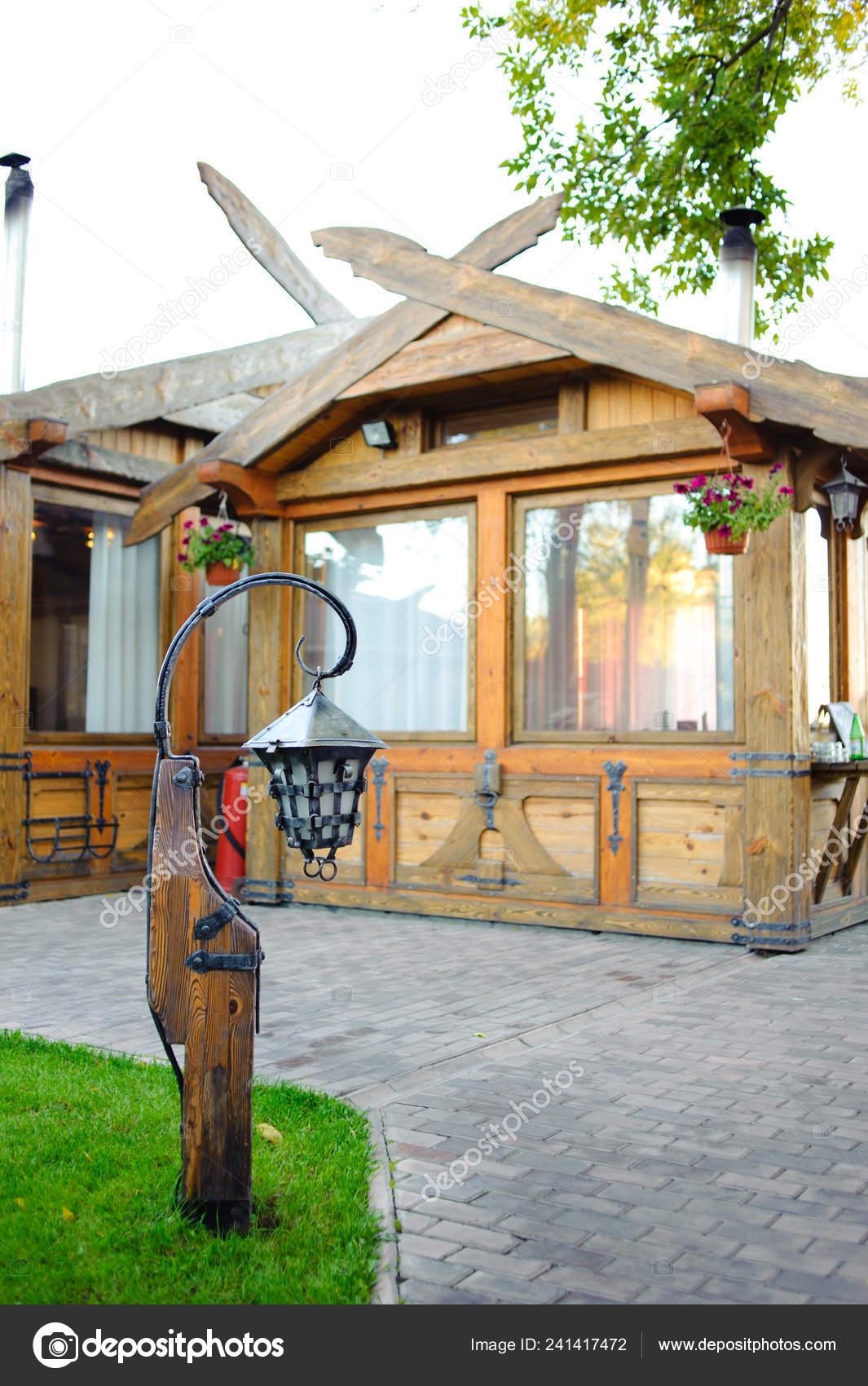 Cool Restaurant Courtyard Decorated Form Village Small Wooden Inzonedesignstudio Interior Chair Design Inzonedesignstudiocom