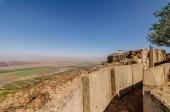 Fényképek Egyesült Nemzetek kivonulás utáni Mount Bental megfigyelése, a puffer zóna az izraeli és a szíriai határ közötti
