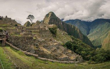 Detail of the Inca ruins of Machu Picchu in Peru
