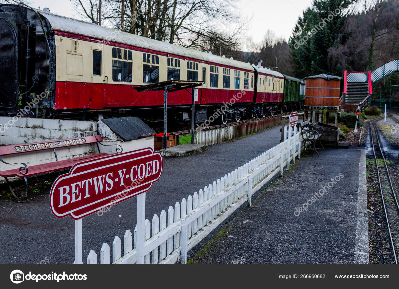 Railway museum in North Wales  – Stock Editorial Photo