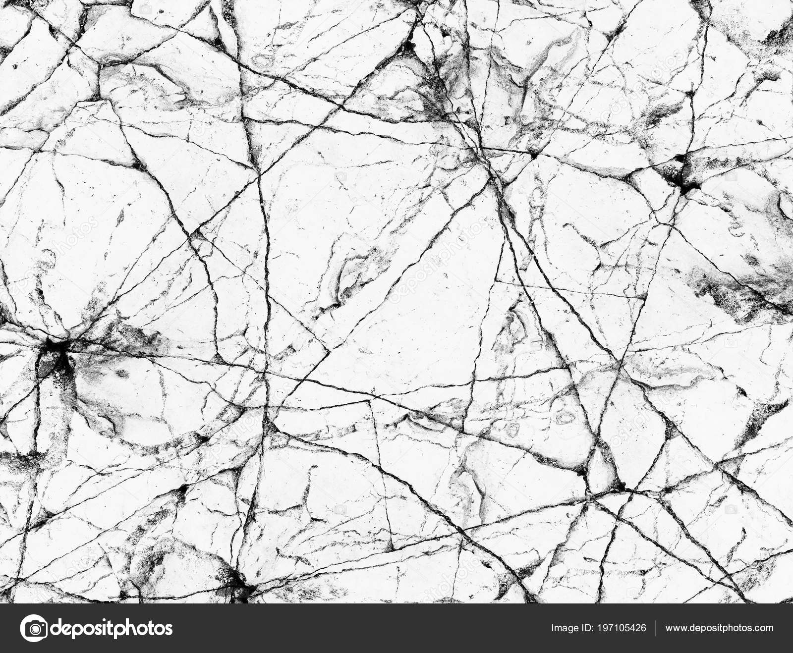 Abstract Natural Black White Gray Cracked Marble Background Design High Stock Photo C Tawanlubfah 197105426