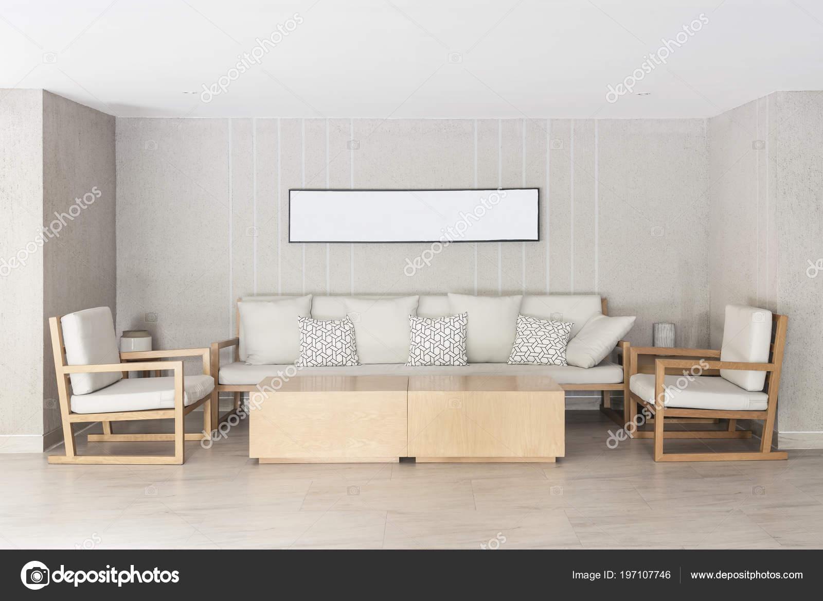 Relax Ecke Haus Sofa Und Stühle Mit Bilderrahmen Der Wand ...