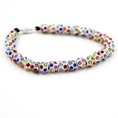 bracelet with multicolored crystals