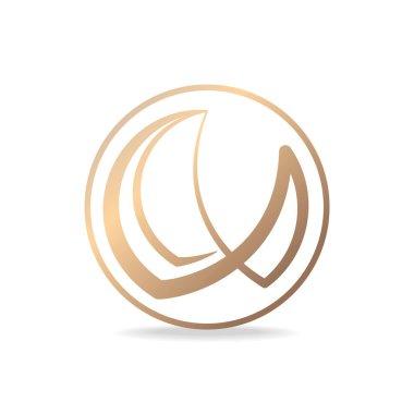 Simple and elegant logo design. Vector image.