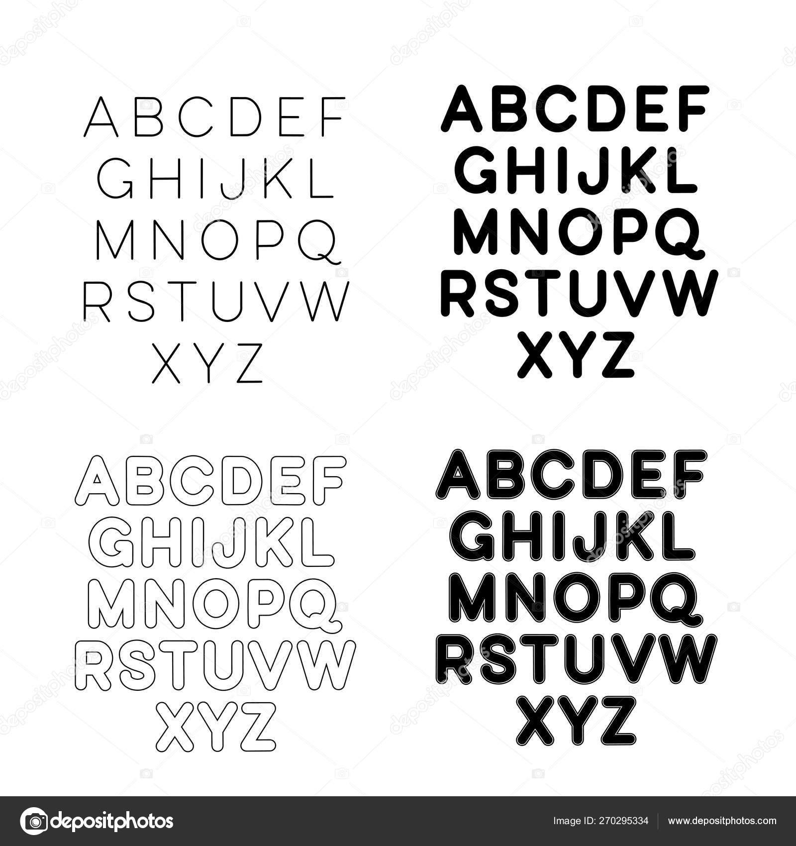 Hand drawn lettering font, alphabet — Stock Vector