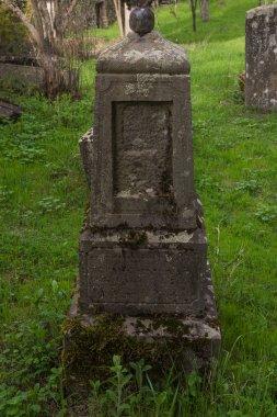 orthodox grave stone in monastery