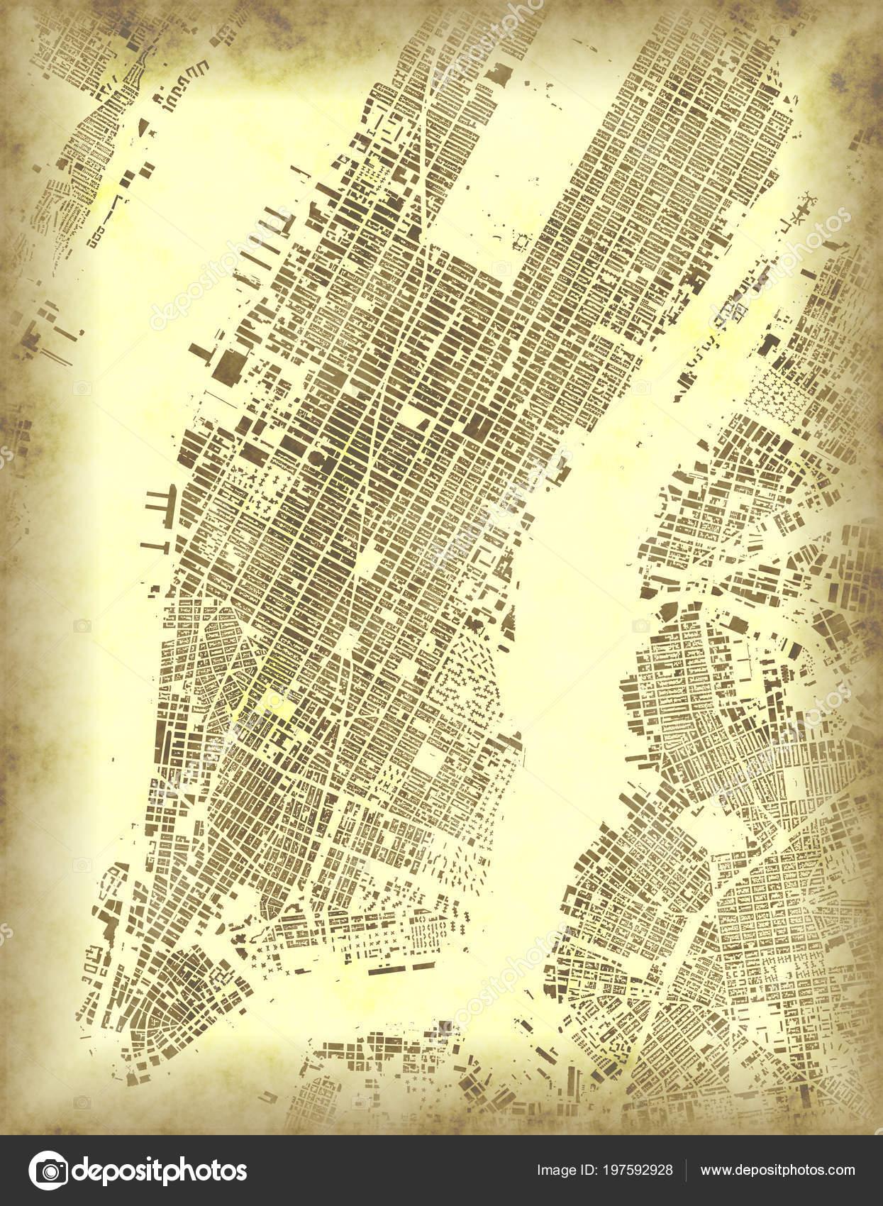 imágenes: satelital de manhattan   nueva york mapa vista