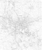 Nürnberger Karte, Satellitenbild, Schwarz-Weiß-Karte. Straßenverzeichnis und Stadtplan. Deutschland
