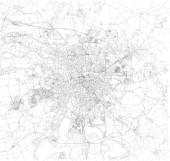 leipzig karte, satellitenansicht, schwarz-weiß karte. Straßenverzeichnis und Stadtplan. Deutschland