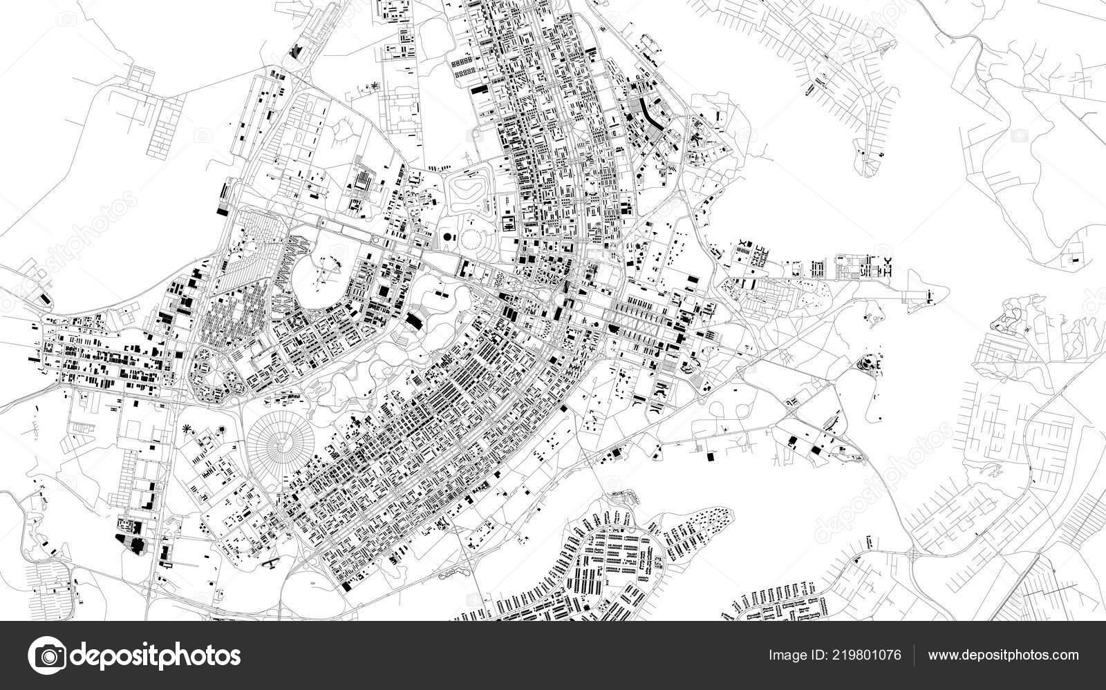 Carte Bresil Satellite.Carte Satellite Rues Brasilia Bresil Ville Plan Acces Centre