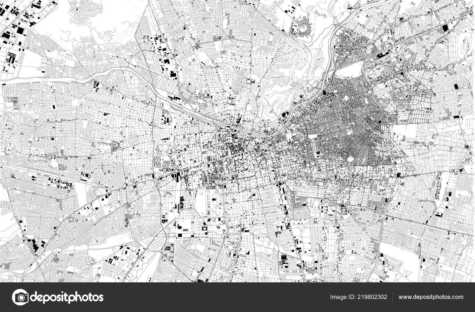 Satellite Map Santiago Chile Chile City Streets Street Map ...