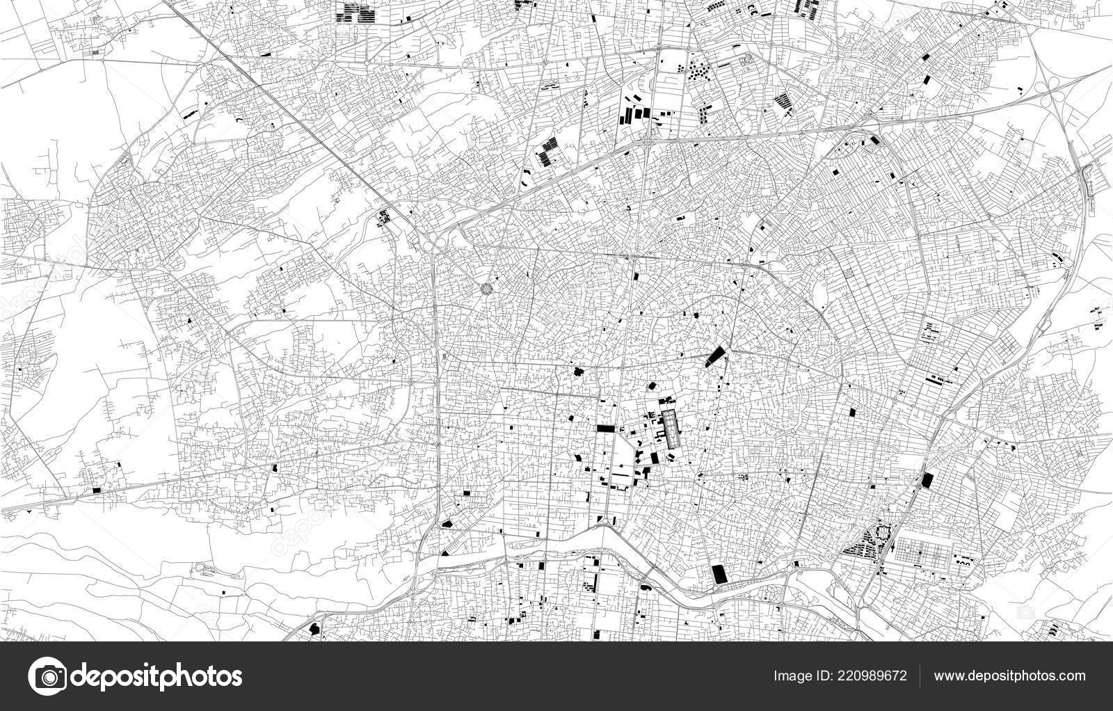 Satellite Map Isfahan Iran City Streets Street Map City Center ...
