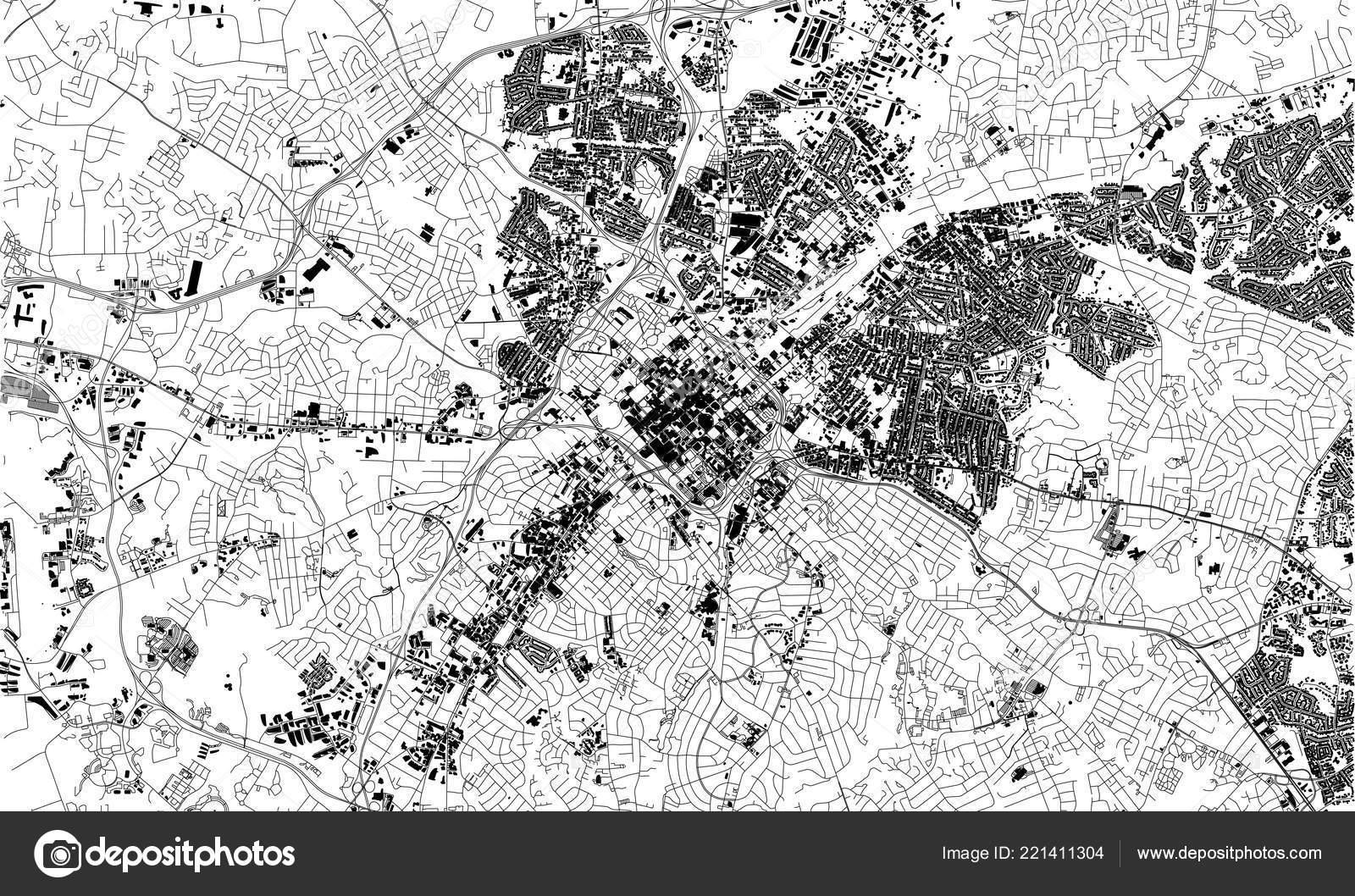 Satellite Map Charlotte North Carolina City Streets Street Map City ...