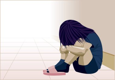 Domestic violence, child in the corner, woman depression, abuse, beat, girl, child, violence against women