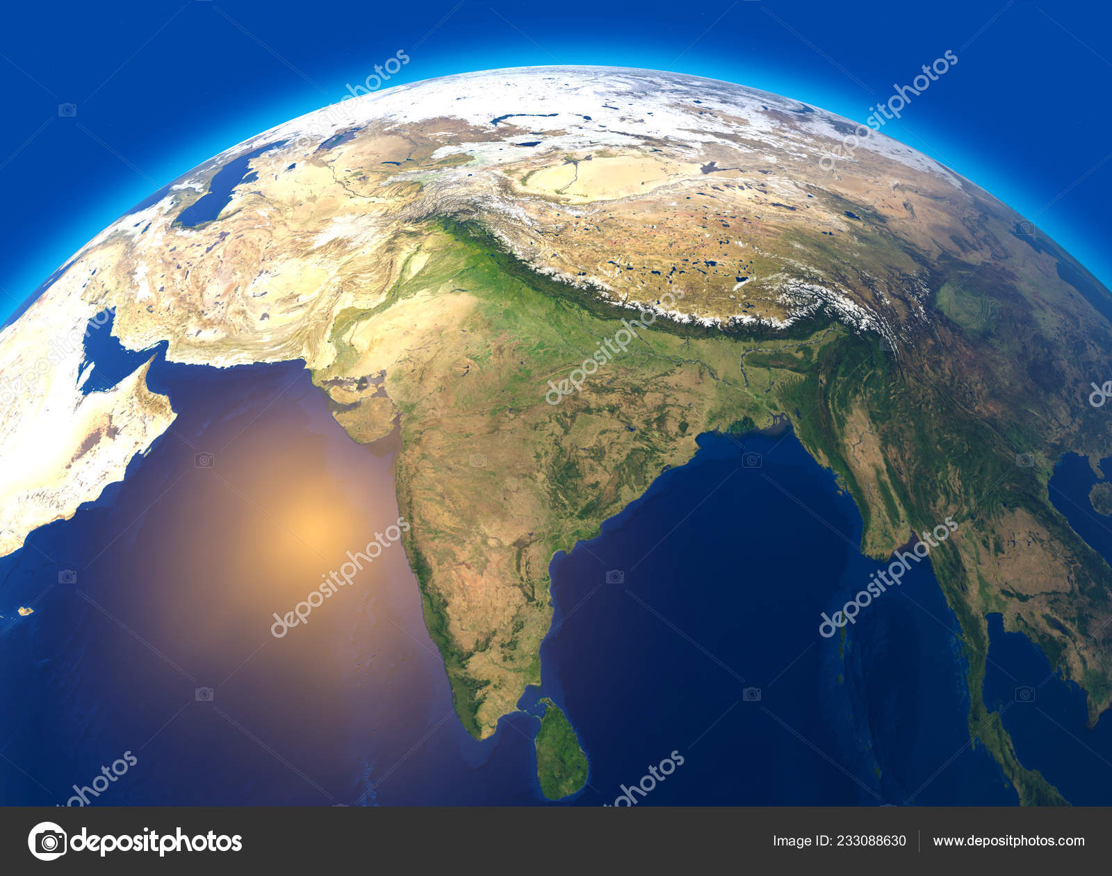 Map Of The World Globe View.Physical Map World Satellite View India Asia Globe Hemisphere