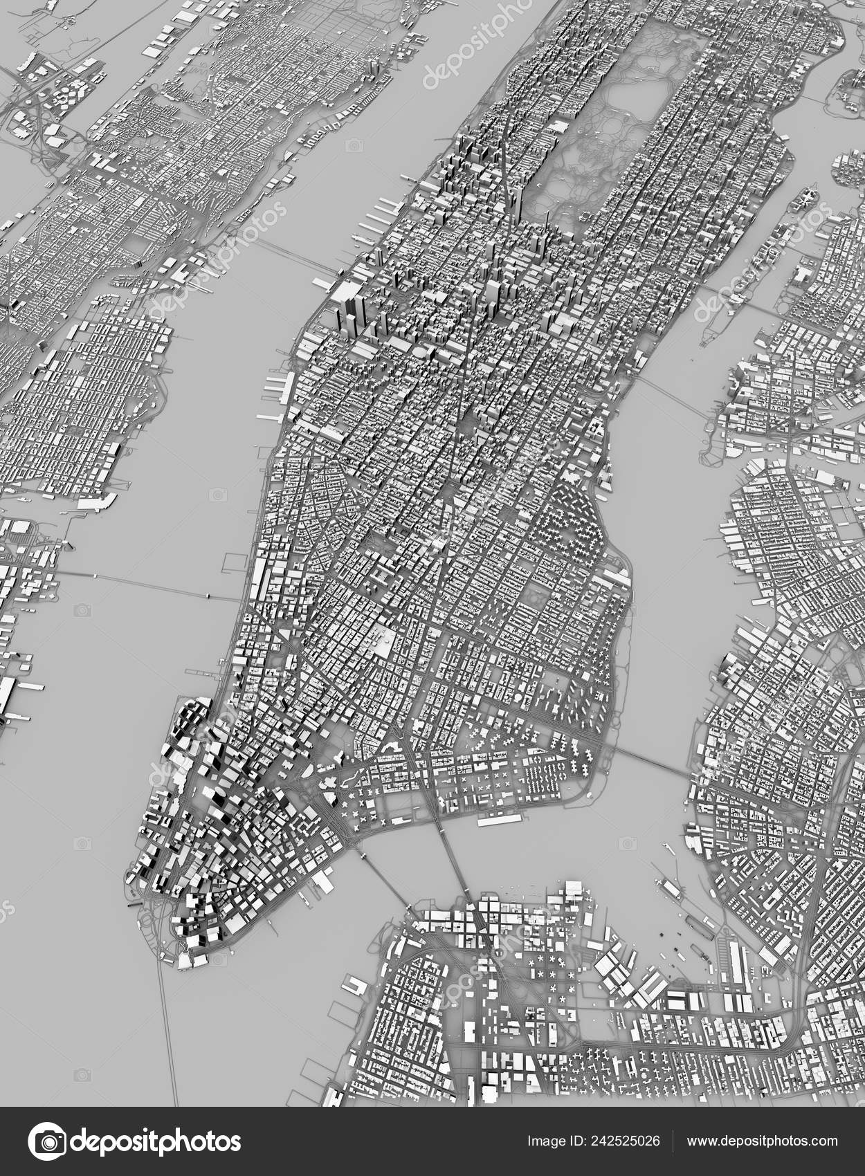 Map Of New York 3d.Satellite View New York City Map Buildings Rendering Streets