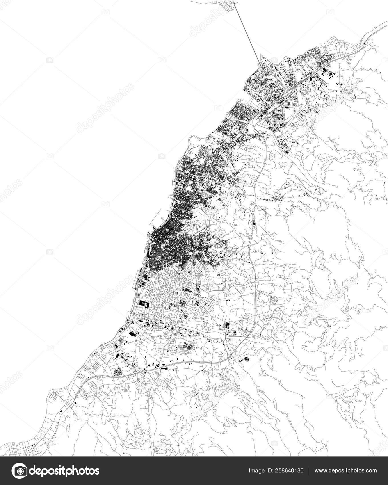 Satellite Map Patras Greece Third Largest City Regional ...