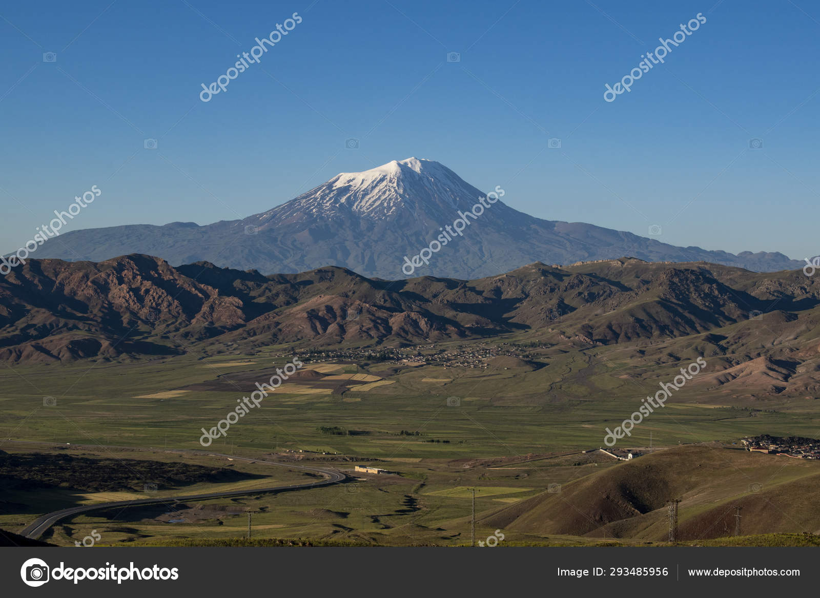 Turkey Middle East Breathtaking View Mount Ararat Agri Dagi