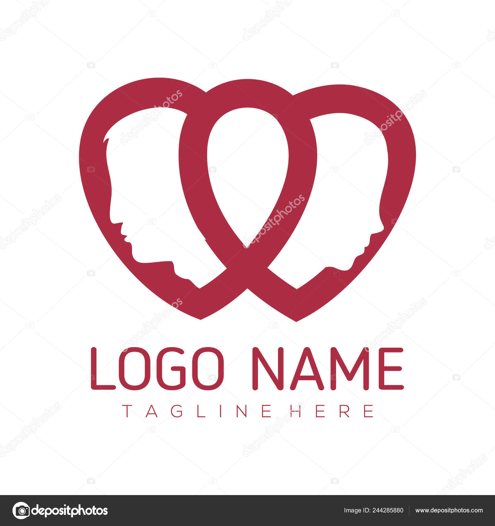 Date Love Valentine Logo Design Suitable Your Business