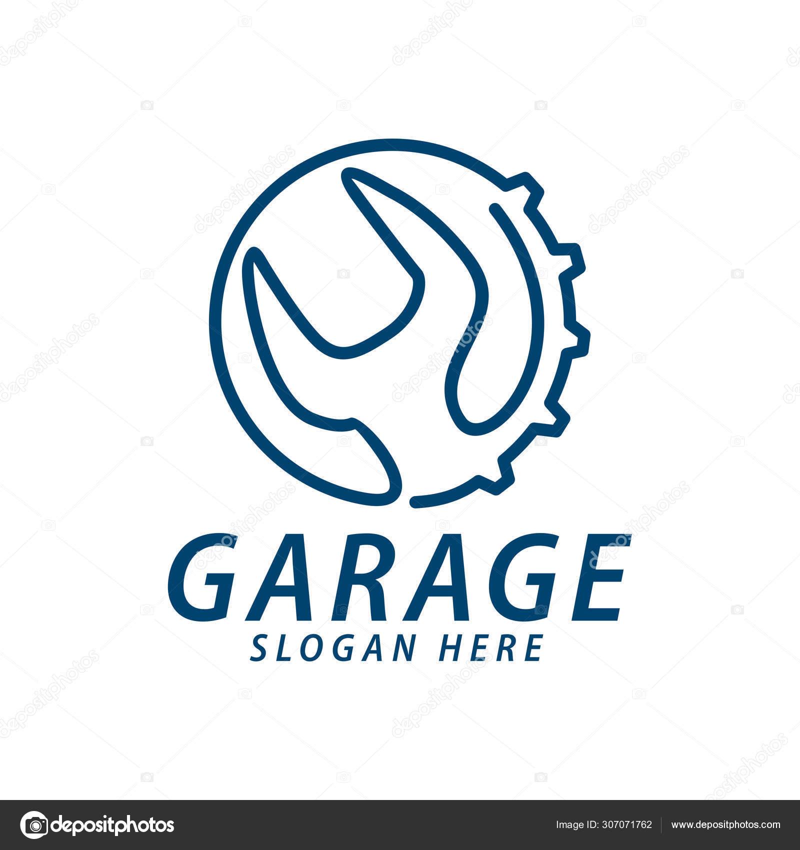 Automotive Line Car Care Repair Garage Logo Design Concept Templ Stock Vector C Stwst 307071762
