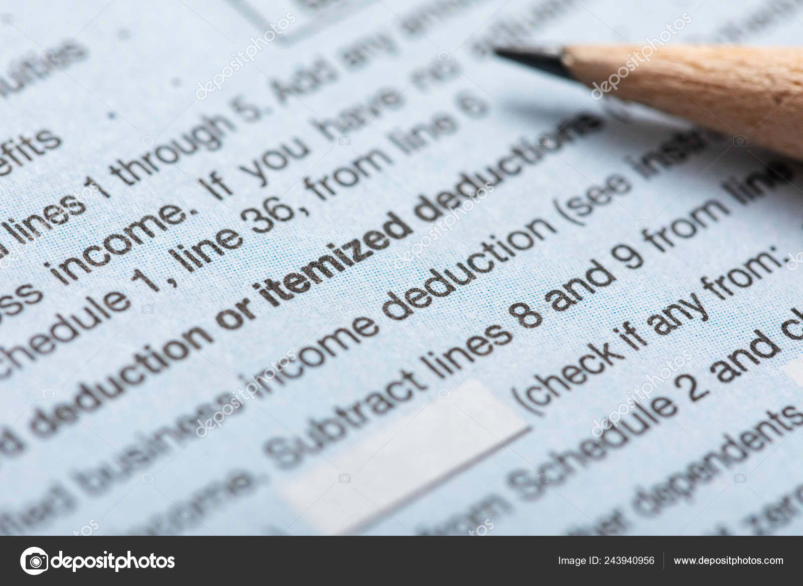Series Current 2018 1040 Tax Forms — Stock Photo © sjlocke #243940956