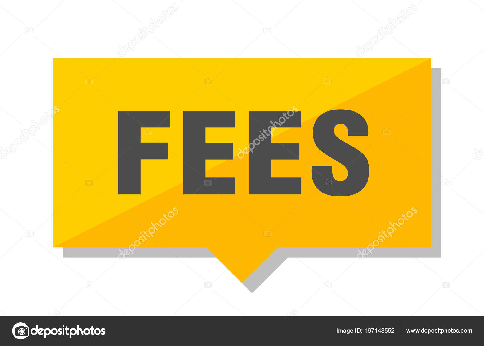 Fees Yellow Square Price Tag — Stock Vector © Aquir014b
