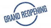Große Wiedereröffnung der blauen runden Briefmarke