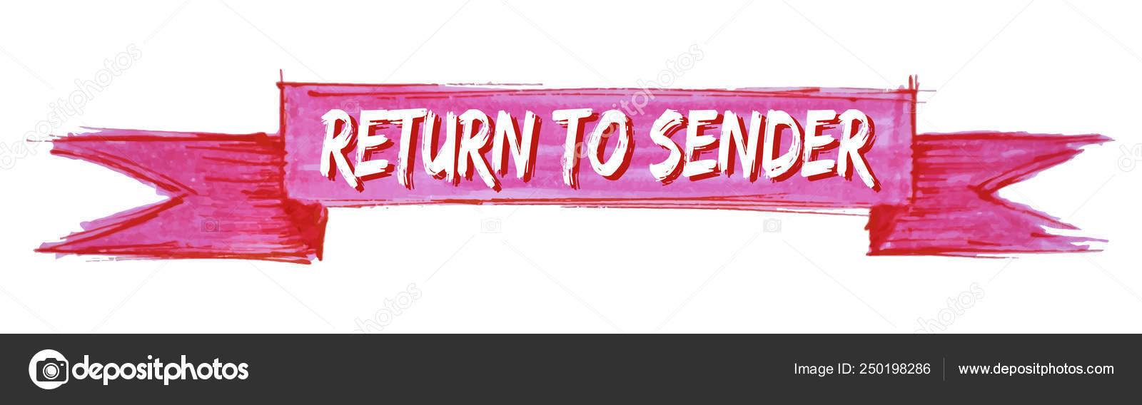 Return to sender ribbon — Stock Vector © Aquir014b #250198286