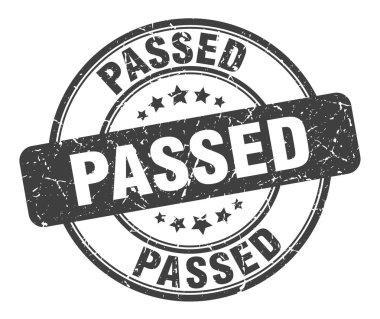 passed stamp. passed round grunge sign. passed