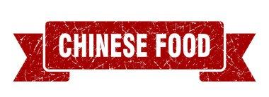 chinese food ribbon sign. chinese food vintage retro band.