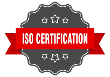iso certification label. iso certification isolated seal. Retro sticker sign