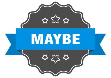 maybe label. maybe isolated seal. Retro sticker sign