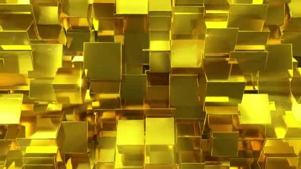 Fényes arany kocka háttér