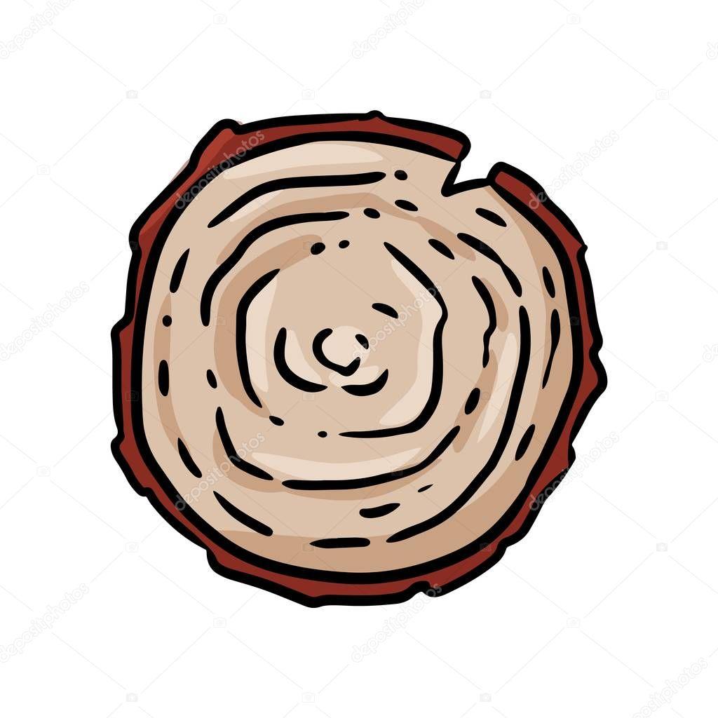 Top View Tree Stump Cartoon Icon Isolated Tree Trunk Cut Symbol Premium Vector In Adobe Illustrator Ai Ai Format Encapsulated Postscript Eps Eps Format