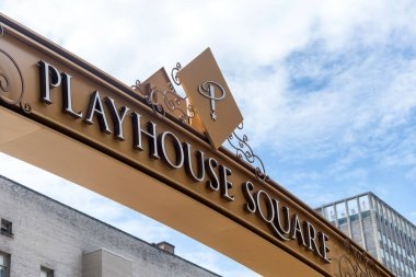 Playhouse Square, street sign in Cleveland.