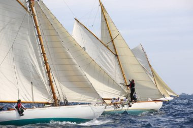sailing boat race in French riviera
