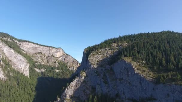 Aerial view of montains, Red lake area, Bicaz, Romania, summer time
