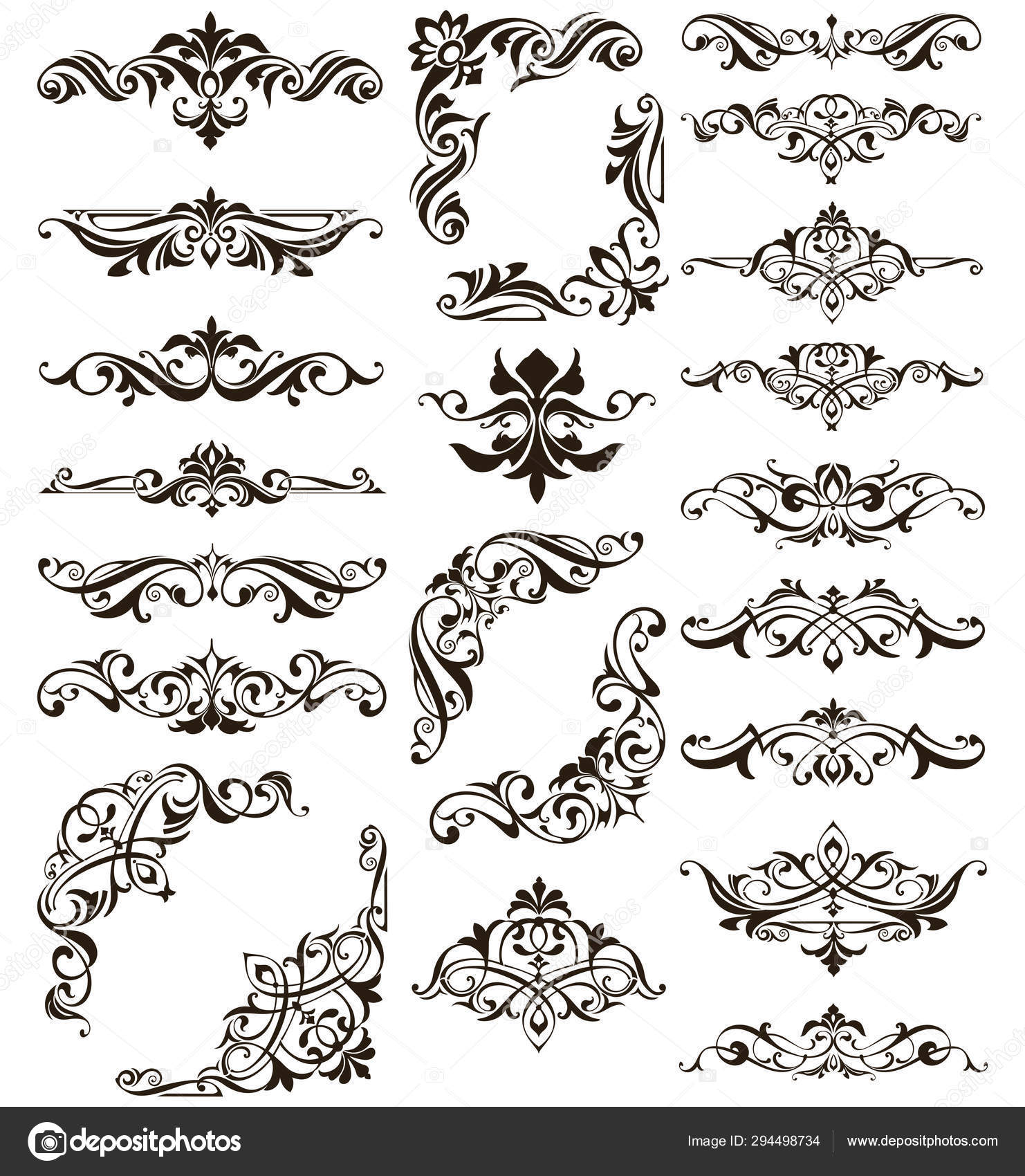 ornamental design lace borders corners vector set art deco floral stock vector c lyotta li 294498734 ornamental design lace borders corners vector set art deco floral stock vector c lyotta li 294498734
